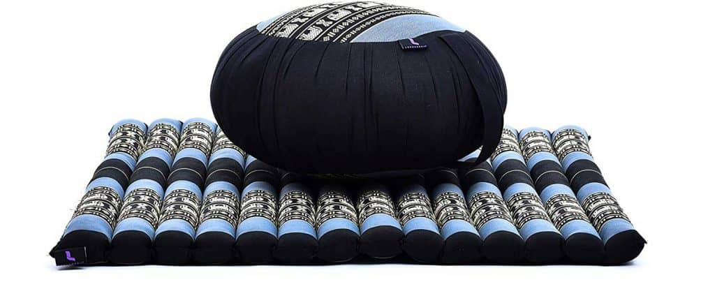 Round Zafu Pillow and Large Square Zabuton Mat for Floor Seating Eco-Friendly Organic and Natural
