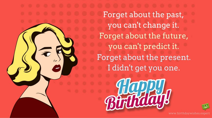 Funny Birthday Wishes To A Sister