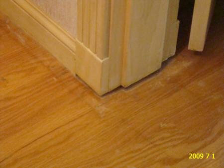 Let the saw do the work and undercutting a door frame takes just a couple of minutes and if you use a bit of scrap laminate and piece of underlay the cut height is perfectly level and you're guaranteed that it's the correct height. Door Jamb Too Short Contractor Talk Professional Construction And Remodeling Forum