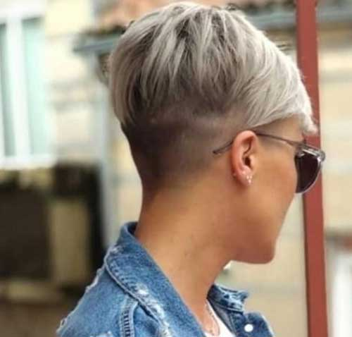 Short undercut hairstyle with hair tattoo. 30 Short Pixie Styles For Elegant Ladies Short Hairstyless