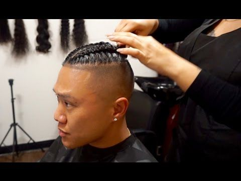An alternative braided bun style is to gather your hair at your neck and start a loose braid with no hair tie. The Man Braid Bun Process Http 47beauty Com Hair Tutorials The Man Braid Bun Process H Cornrow Hairstyles For Men Cornrow Hairstyles Cool Braid Hairstyles