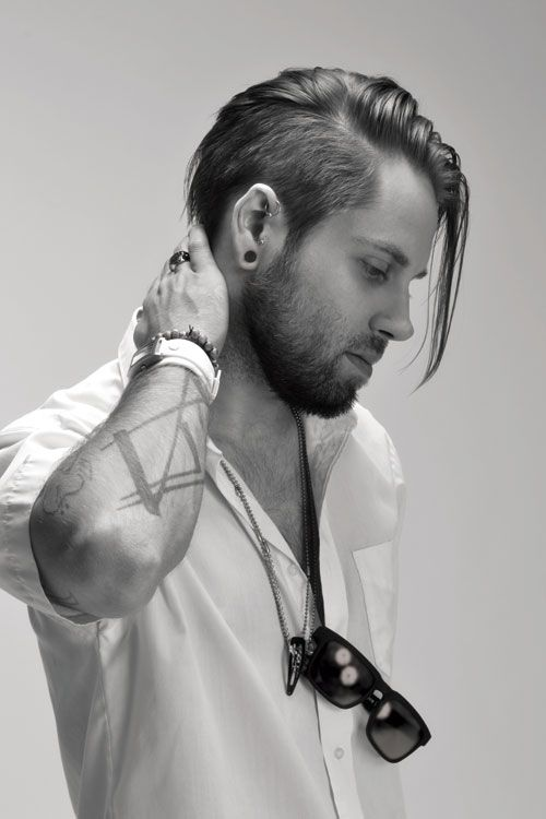Long undercut with beard · 17. 15 Exquisite Uppercut Hairstyles For Men Hottest Haircuts