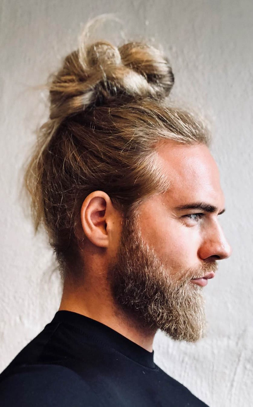 The man bun haircut comes in many variations, including the … 7 Types Of Man Bun Hairstyles Gallery How To