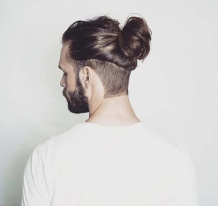 2.7 spiky blonde hair with low fade; The Man Bun Hairstyles Trends In 2021