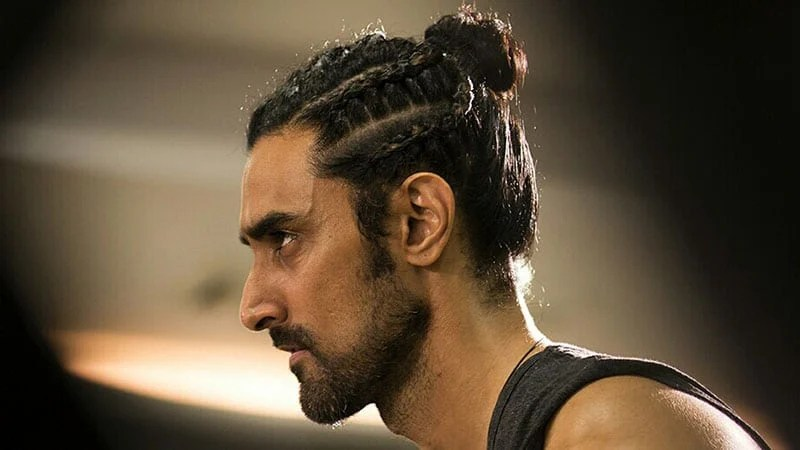 This corn row fade man bun combination is giving us all the feels man bun hairstyles braided hairdo mens braids hairstyles. 10 Coolest Man Bun Braid Hairstyles In 2021 The Trend Spotter
