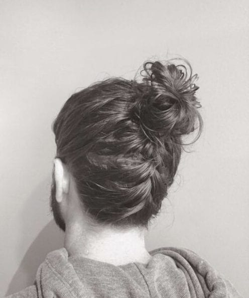 An alternative braided bun style is to gather your hair at your neck and start a loose braid with no hair tie. 50 Man Bun Hairstyle Choices That Really Do Look Good Menhairstylist Com