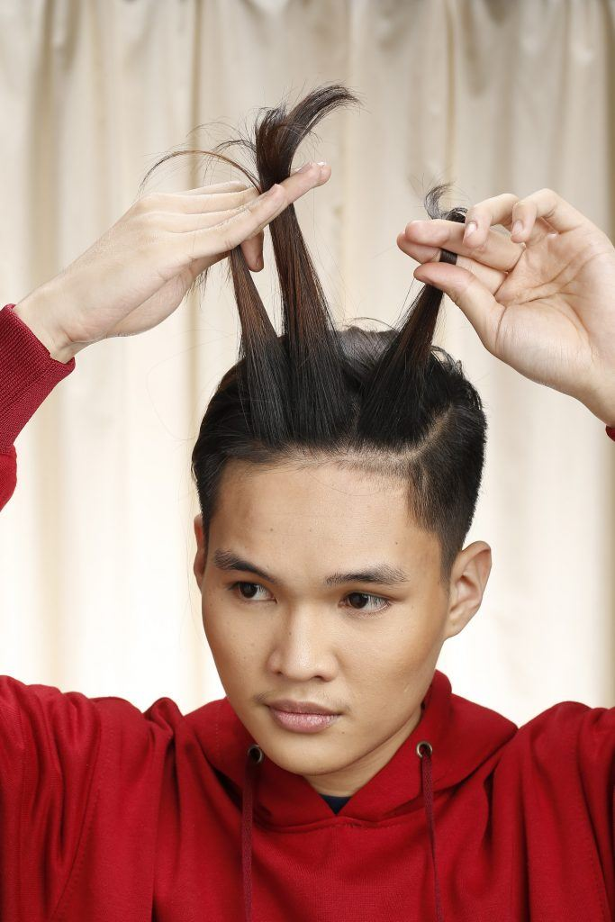 This corn row fade man bun combination is giving us all the feels man bun hairstyles braided hairdo mens braids hairstyles. Man Bun Braid Tutorial For Pinoy Men All Things Hair Ph