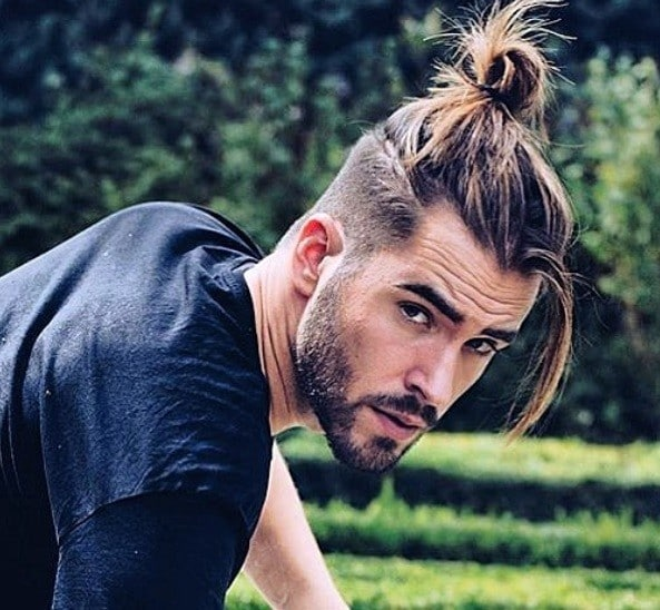 2.7 spiky blonde hair with low fade; 12 Best Man Bun Fade Hairstyles Men S Hairstyles Haircuts