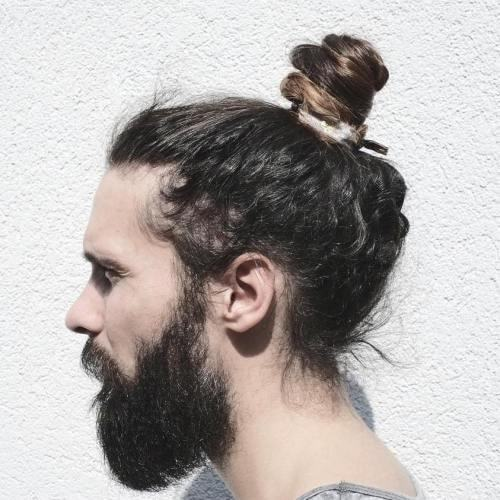 Now pull these braids to the bac. 7 Spectacular Man Bun Hairstyles For Curly Hair 2021 Trends