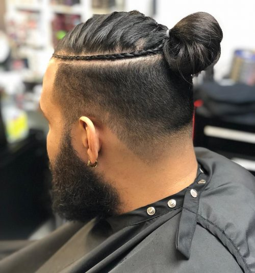 2.8 platinum blonde comb over undercut; 11 Awesome Man Bun Hairstyles With A Fade For 2021