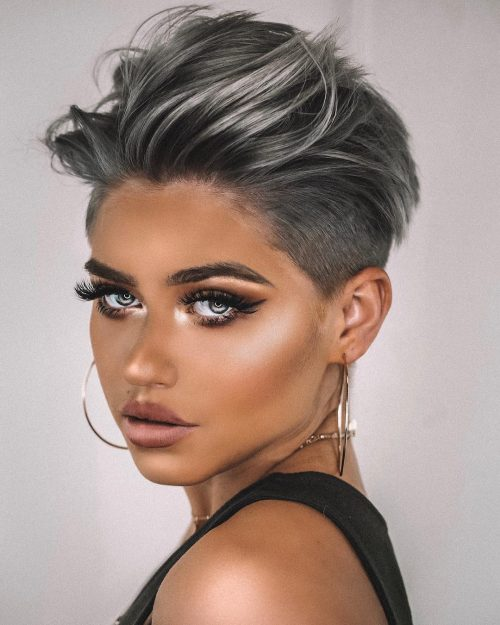 Here's everything you need to know about keeping your undercut trimmed, your color fresh, and your pixie punky. The 20 Coolest Undercut Pixie Cuts Found For 2021