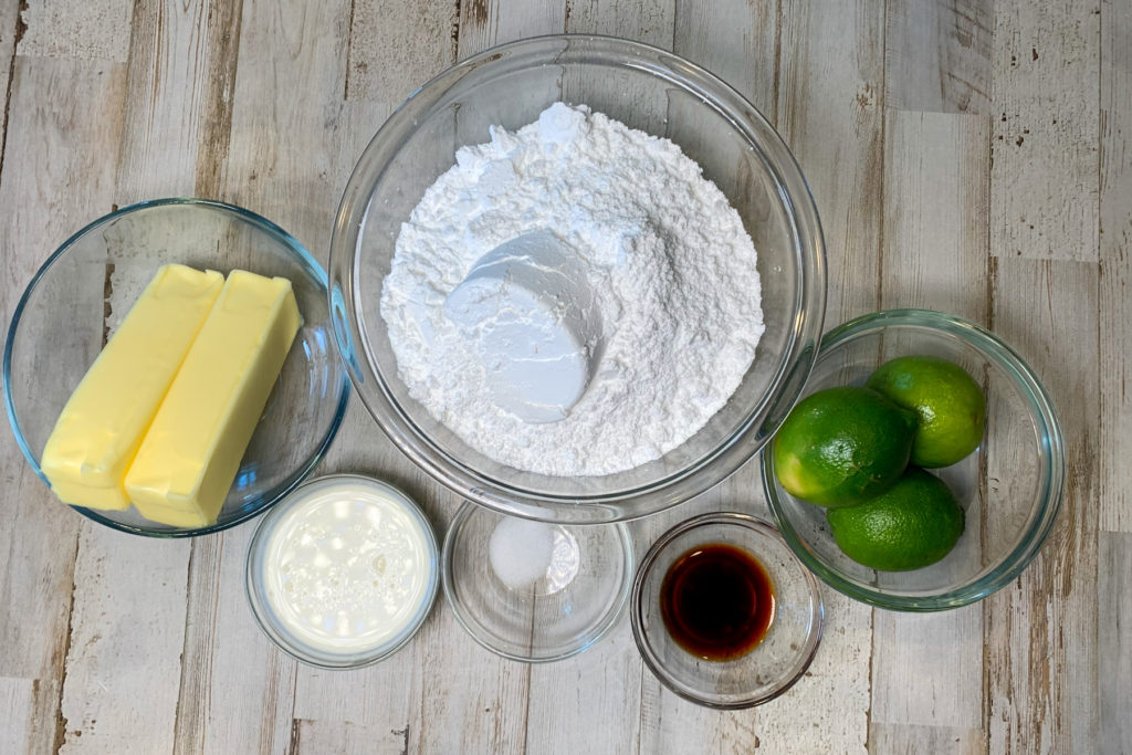 Key Lime Butter Cream Frosting Ingredients