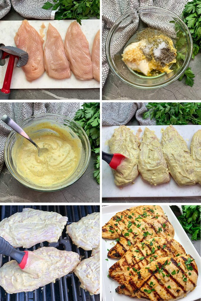 Pictures of all the steps to make from marinade to grilling of this recipe.