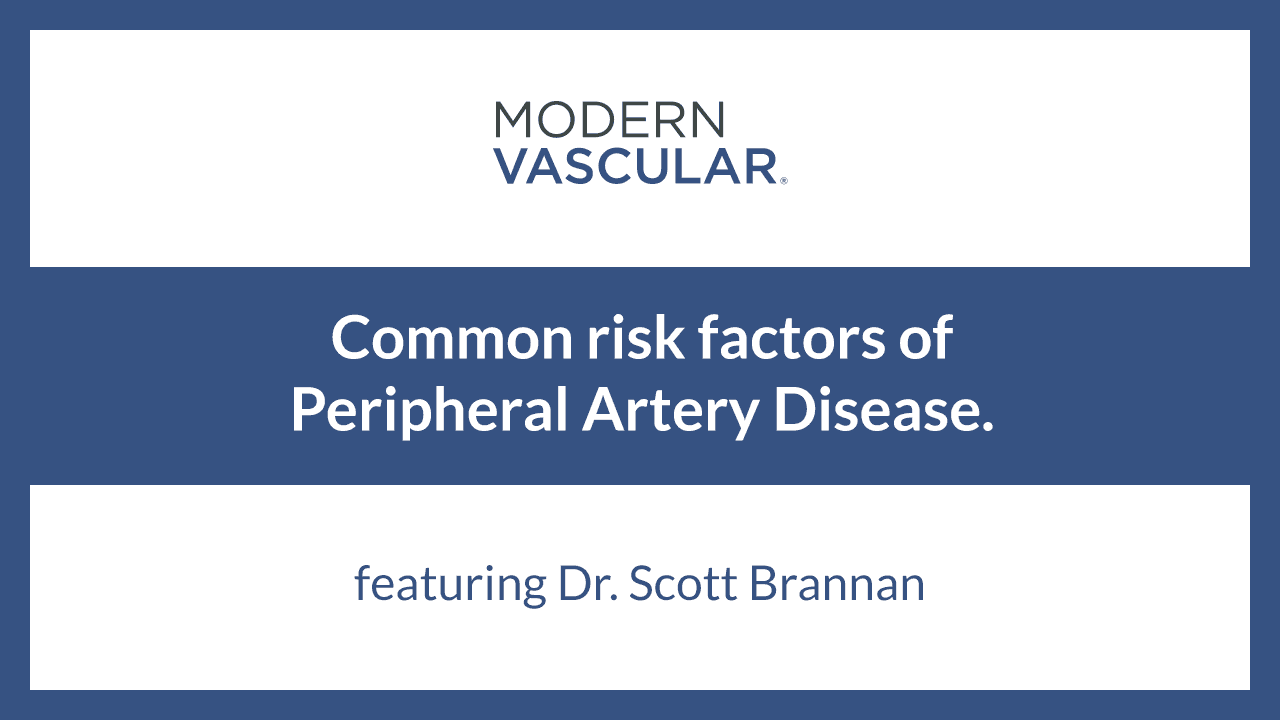 Common Risk Factors of Peripheral Artery Disease
