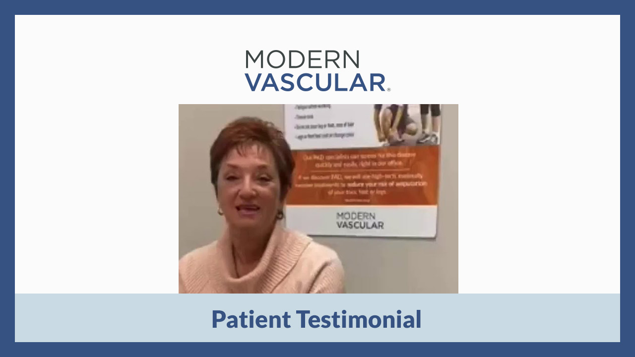 Patient Testimonial for Modern Vascular in Southaven