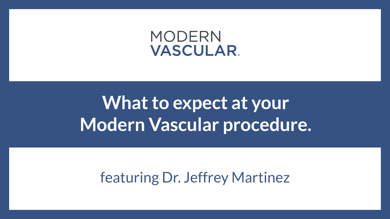 What to Expect at your Procedure with Modern Vascular – Dr. Martinez