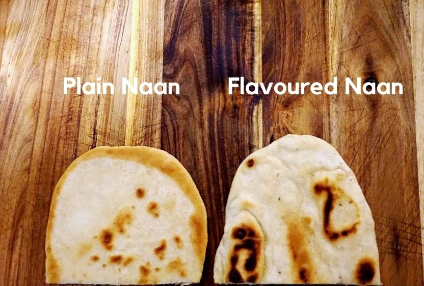 plain naan and flavoured naan
