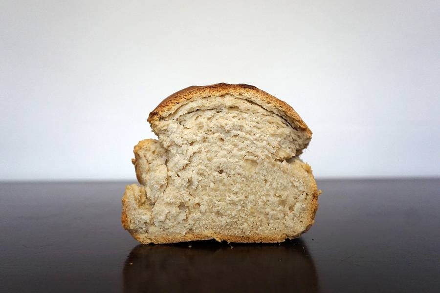 bread loaf made with self-rising flour