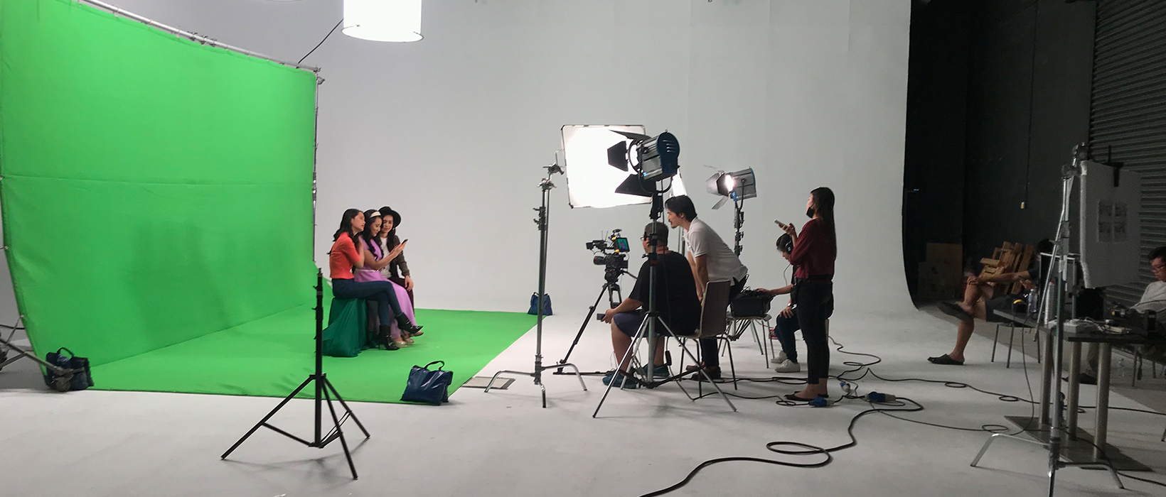 green screen studio shoot for tv commercial and corporate video