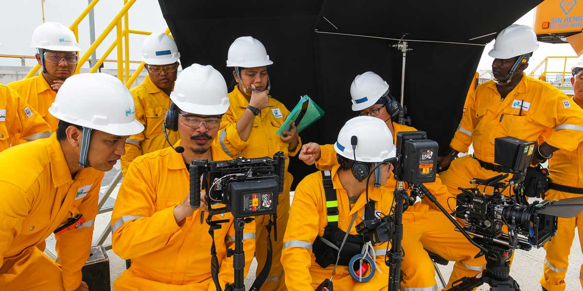 Work Safety Video Production Crew in Action