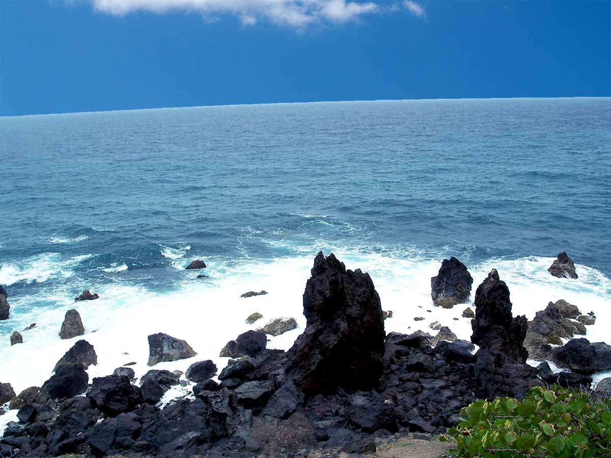 Black Rocks and the sea St Kitts