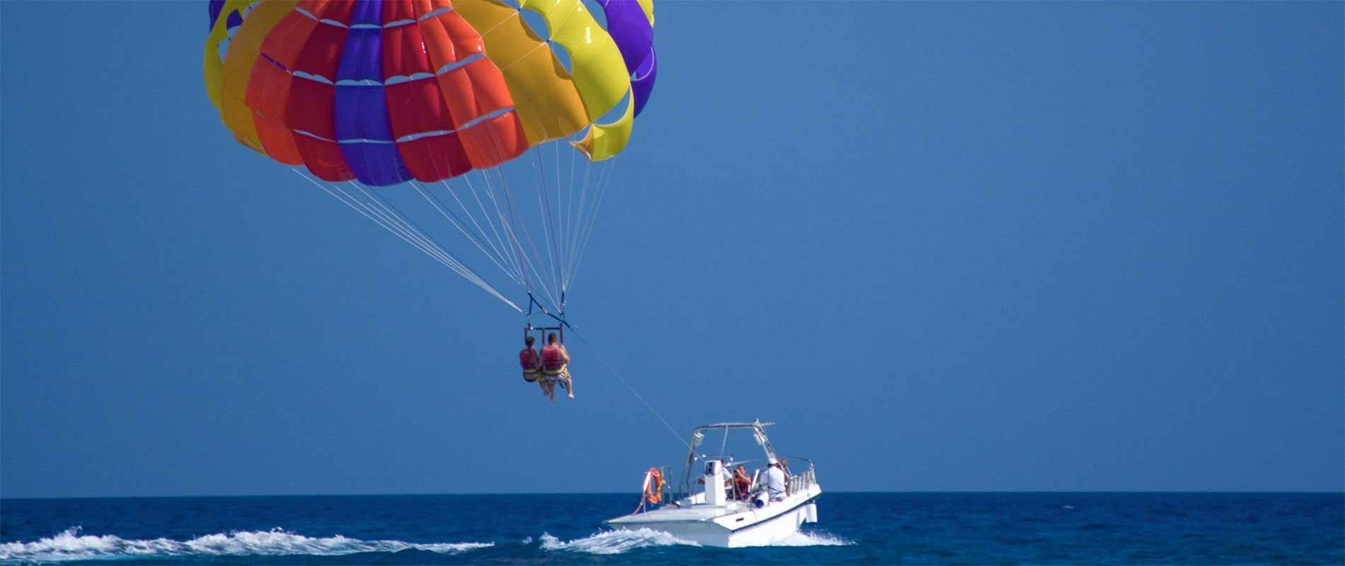 Parasailing in St Kitts