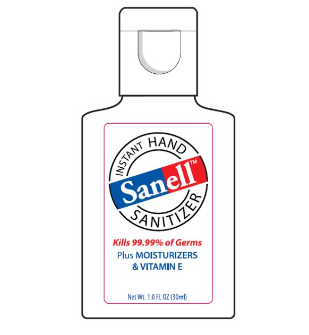Ndc 63645 166 Sanell Hand Sanitizer Alcohol
