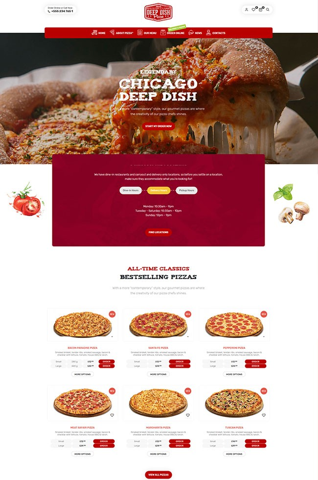 Site Para Pizzaria Delivery e Fast-food