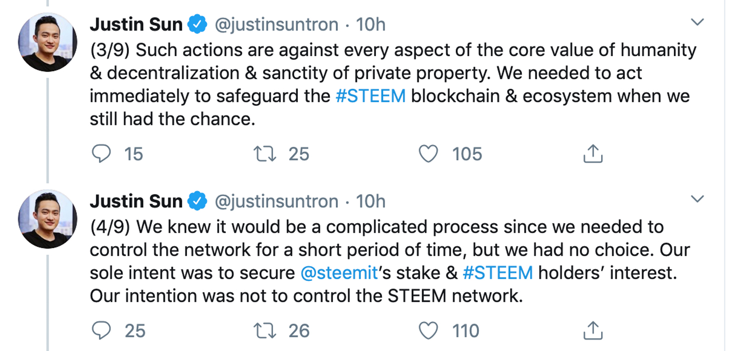 Tron's Steemit Acquisition Exposes Delegated-Proof-of-Stake Centralization