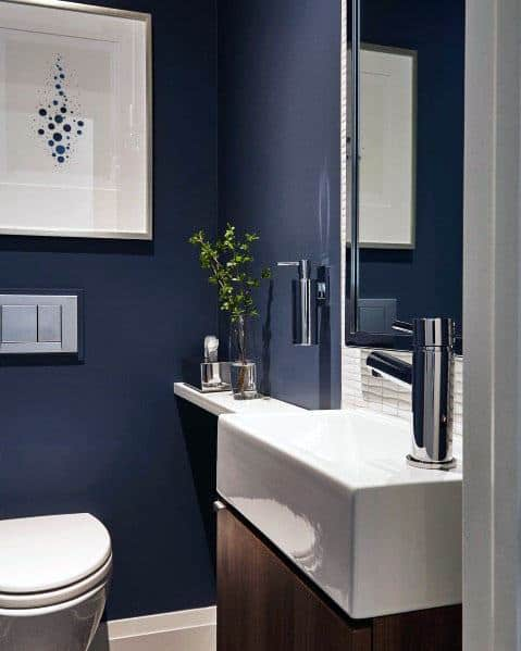 Best Blue Color For Small Bathroom