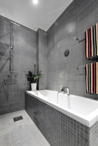 Paint Ideas For Bathroom With Grey Tiles