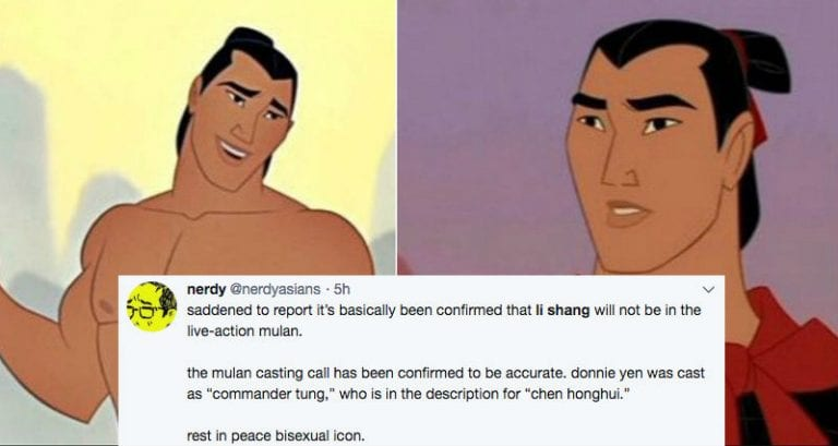 Disney Just Deleted Li Shang From The Live Action Mulan Story