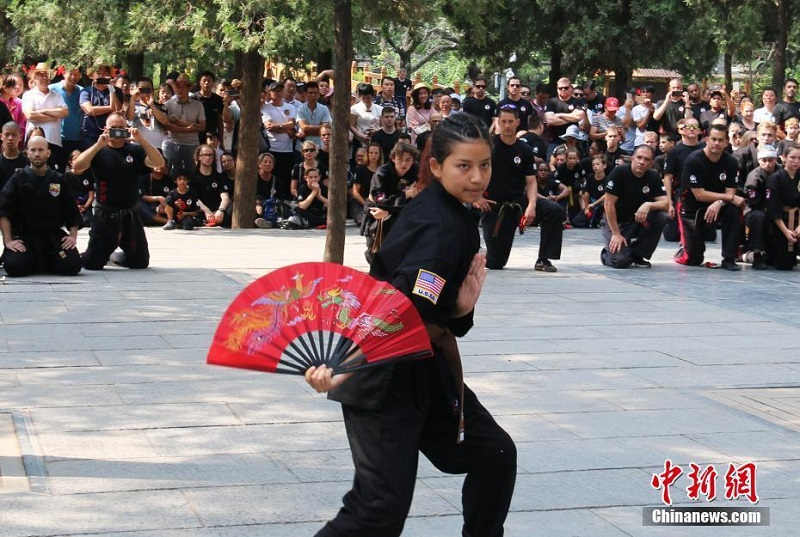 American Students Show Off Their Kung Fu Skills at Shaolin Temple in China