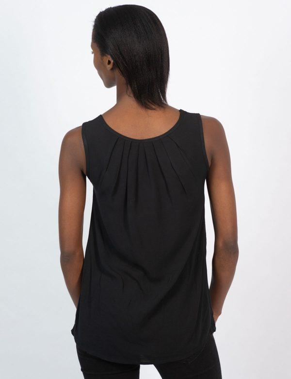 Oblong Vest - Black - Back
