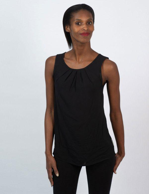 Oblong Vest - Black - Front