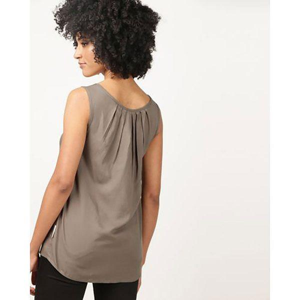 Oblong Vest - Olive - Back