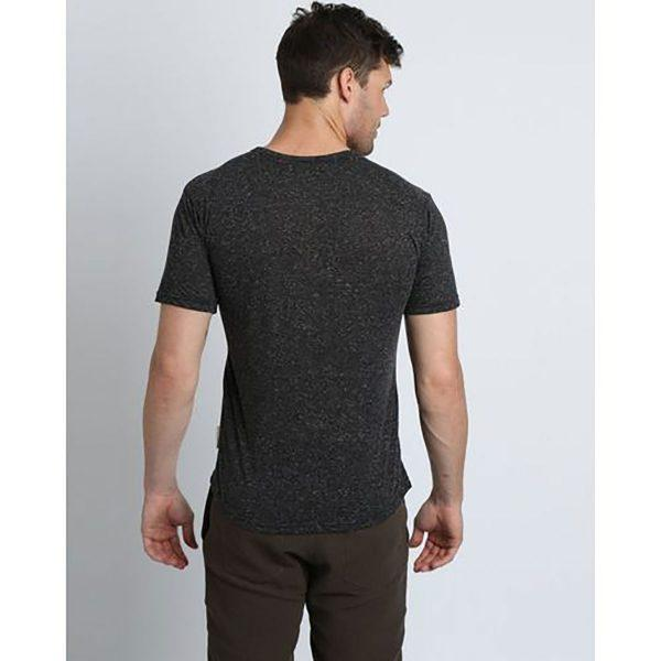 Round Neck Tee - Charcoal Melange - Back