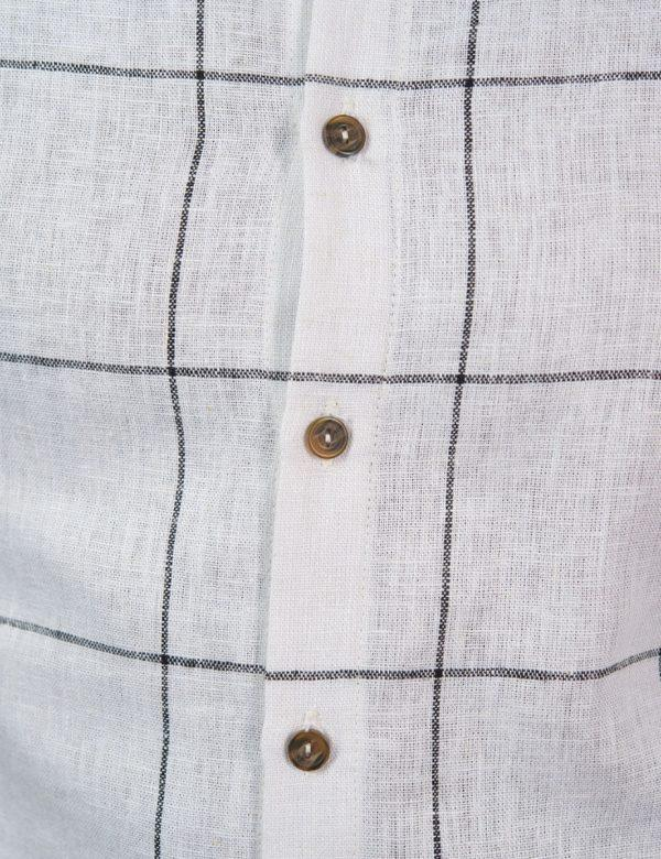 Summer Shirt - Vintage Check - Button detail