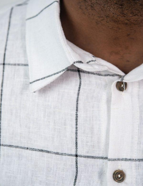 Summer Shirt - Vintage Check - Collar detail