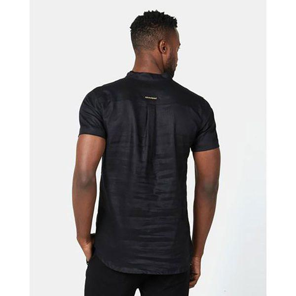 Mandarin Shirt - Black - Back