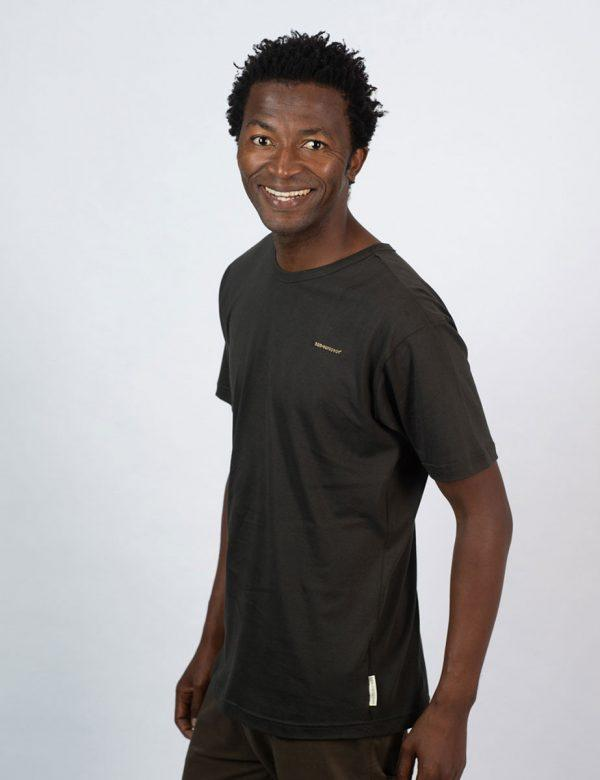Round Neck Tee - Olive - Side front