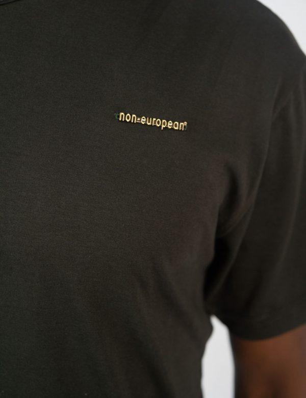 Round Neck Tee - Olive - Side front detail