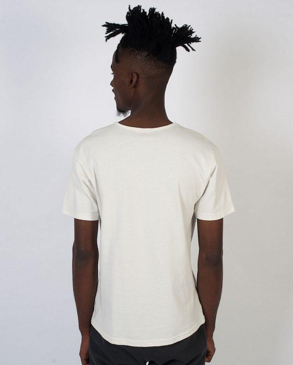 Round Neck Tee non-european - Winter White - Fluorescent - Back