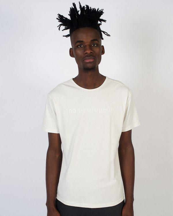 Round Neck Tee non-european - Winter White - Fluorescent - Front