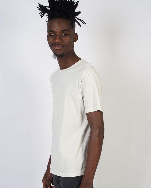 Round Neck Tee non-european - Winter White - Fluorescent - Side
