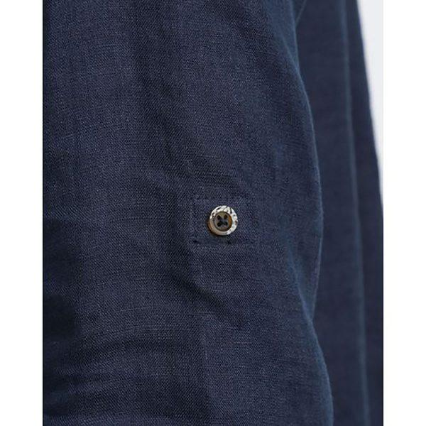 Formal Linen Shirt - Navy - Detail 2