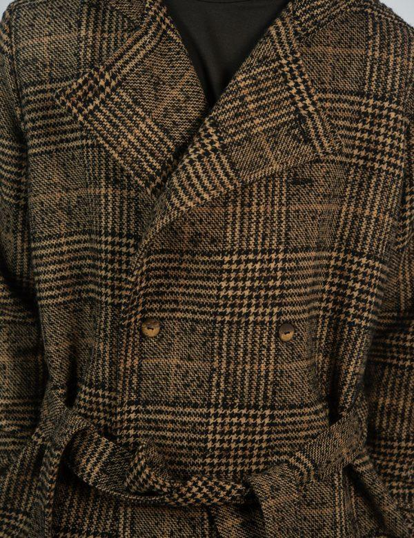 Double Breasted Coat - Tartan Check - Double breasted detail