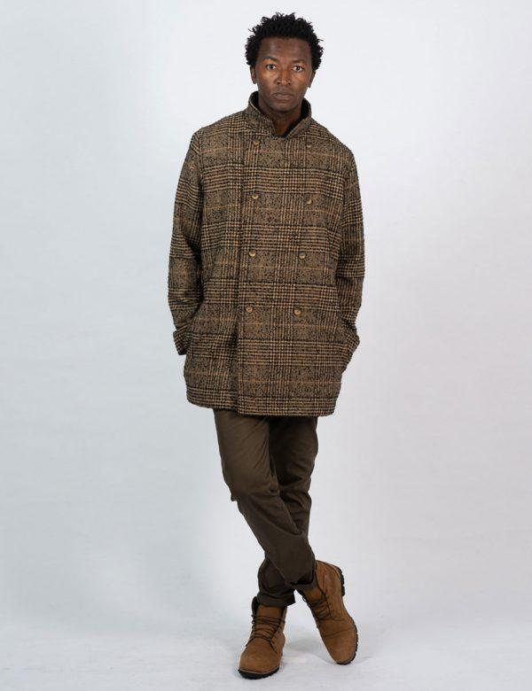Double Breasted Coat - Tartan Check - Lifestyle shot 3