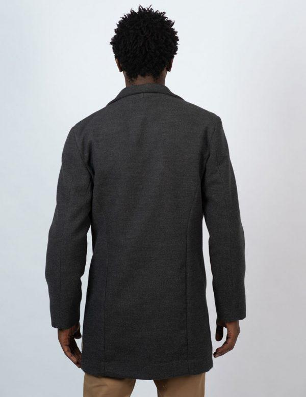 Male Blazer Coat - Charcoal Melange - Back