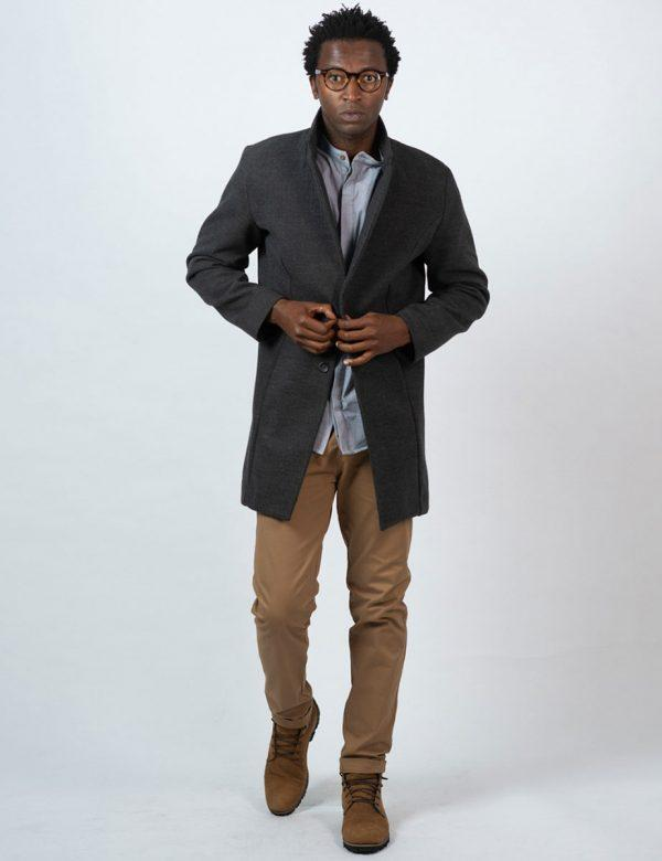 Male Blazer Coat - Charcoal Melange - Lifestyle shot 3
